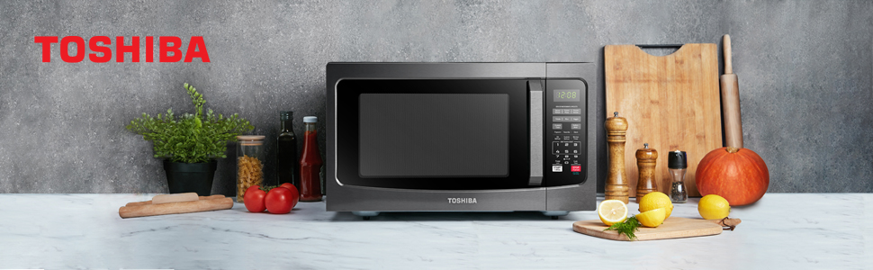 Toshiba EM131A5C-BS microwave oven black stainless steel