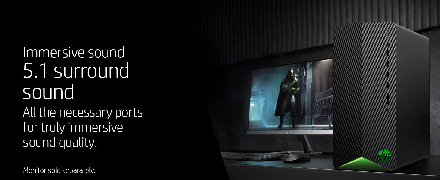 immersive quality ports 5.1 surround sound