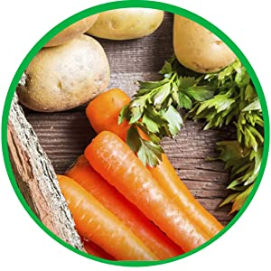 Real, Wholesome, Ingredients, High-quality, Premium, Dry, Dog, Food, Nutrition, Carrot, Potato