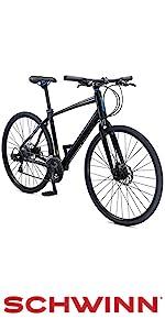 Amazon com : Schwinn Vantage F2 700c Sport Hybrid Road Bike with