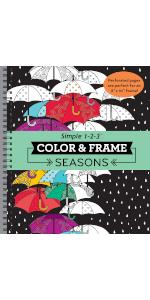 seasons coloring book for adults grown up senior teens