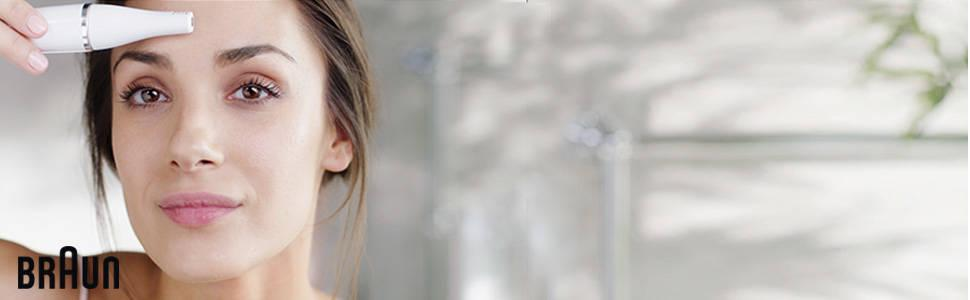 Braun Face 810 - Epilateur visage & Brosse nettoyante pour le visage avec micro-oscillations