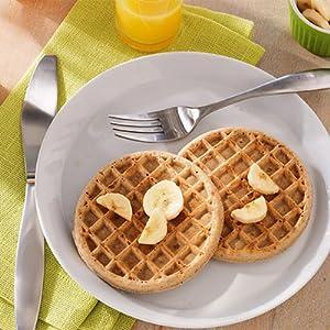 waffle banana knife fork orange juice