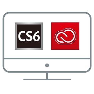 最新版だけでなく、CS6以降のすべてのバー ジョンが利用可能。バージョンアップやアップデートは、ご自身の好きなタイミングで実行可。