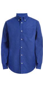 royal blue shirt;dress shirt for kids; cjhaps boys; chaps girls' chooll uniform; schol uniform, kids