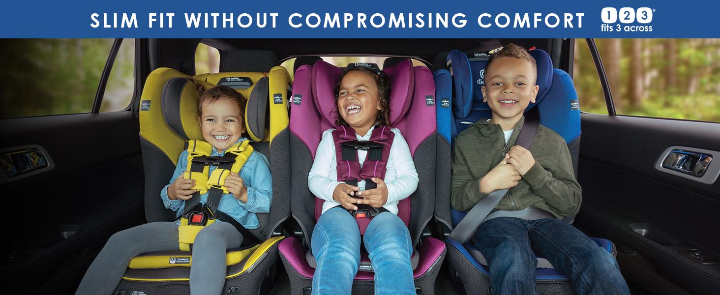 slim fit car seat, 3 across