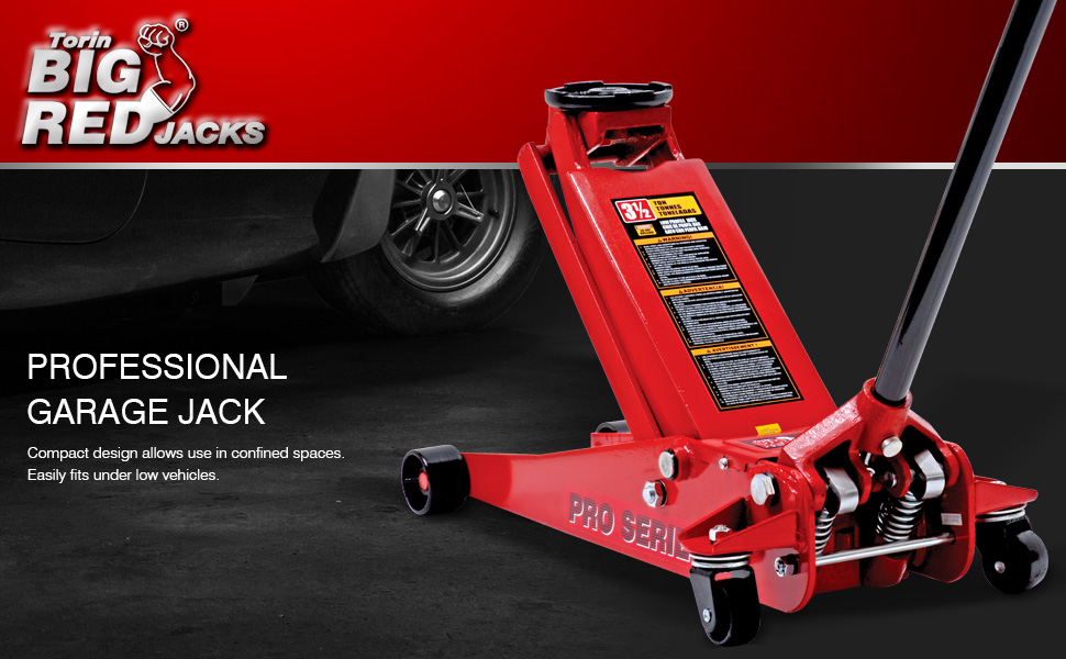 Amazon Com Big Red T83505 Torin Pro Series Hydraulic Low Profile Floor Jack With Dual Piston Quick Lift Pump 3 5 Ton 7 000 Lb Capacity Red Automotive