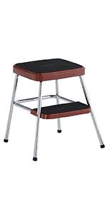 Groovy Amazon Com Cosco 11120Red1E Retro Counter Chair Step Stool Uwap Interior Chair Design Uwaporg