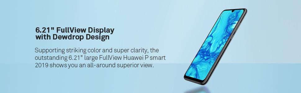 "6.21"" fullview display with dewdrop design"