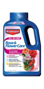 rose fertilizer fungicide miticide