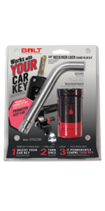 "Jeep Center Cut 5/8"" Receiver Lock"