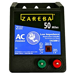 zareba, electric fencing, horses, cattle, pigs, goats, 50 mile energizer, 50 mile charger,
