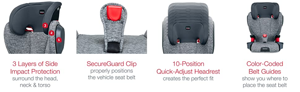 Britax Highpoint Backless Booster - Features