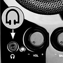 Conexión para auriculares altavoces Big Bass 95