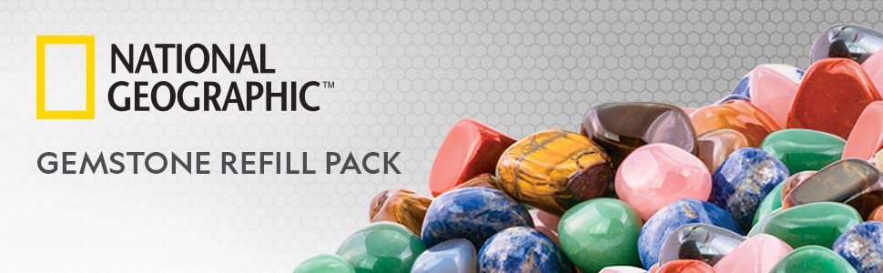 National Geographic rock tumbler refill kit jasper gemstone rock for tumblers polisher rough gems