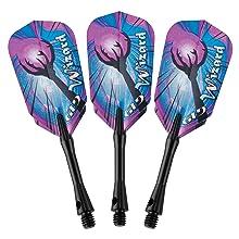 Wizard Soft Tip Dart Set Blue 18 grams 20-4002 darts flights shafts Brass