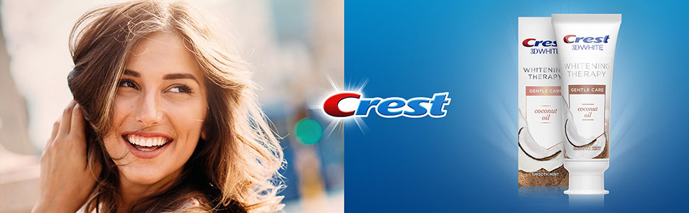 Dentifrice Crest 3D White Whitening Therapy Gentle Care à l'huile de noix de coco