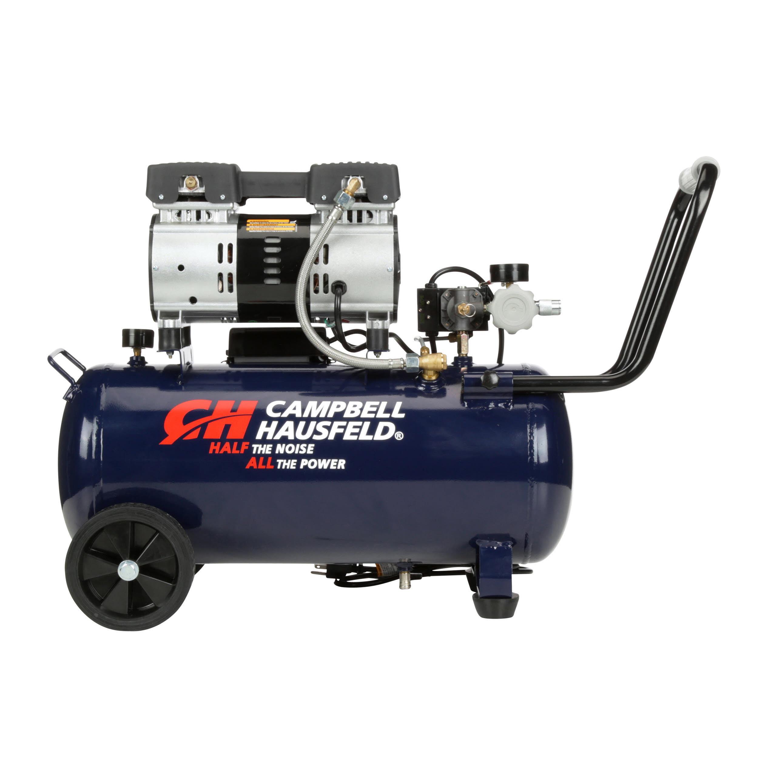 Quiet Air Compressor, 8 Gallon, Half the Noise, 4X the