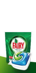 Fairy, Pastillas Lavavajillas Platinum Limón, 125 Cápsulas Todo en 1, 5 x 25