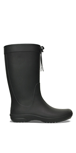 crocs Freesail Shorty Rainboot Schwarz Croslite Weite normal Croslite