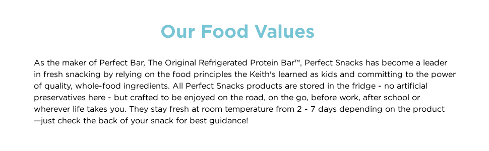 Our Food Values