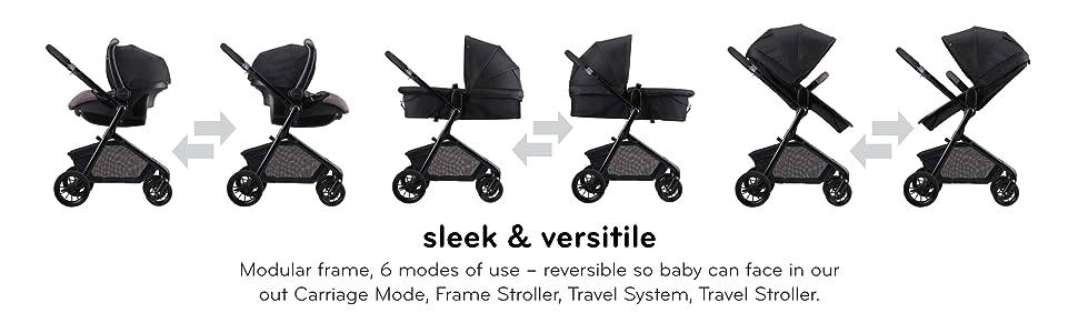 sleek, versatile, convertable, baby, stroller