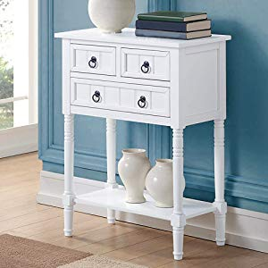 Amazon.com: Convenience Concepts Omega Console Table, White: Kitchen ...