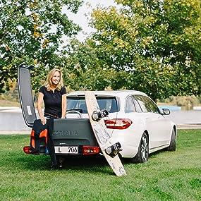 westfalia transportbox f r fahrradtr ger praktische. Black Bedroom Furniture Sets. Home Design Ideas