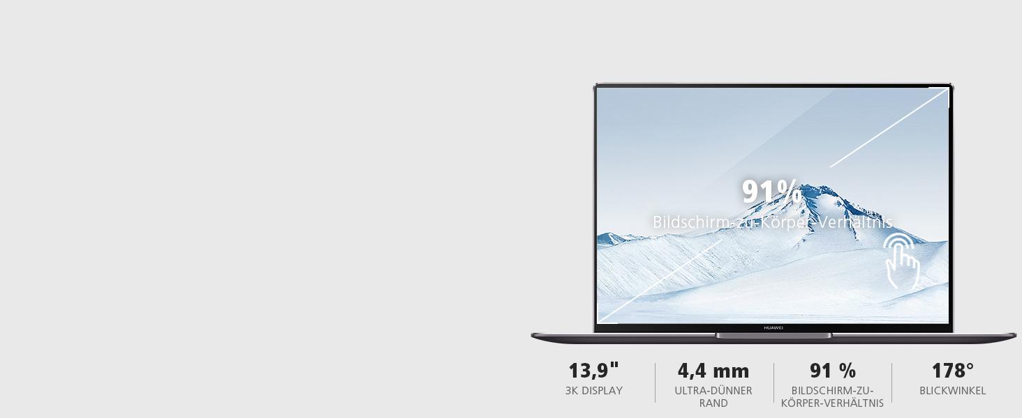 3K Display, FullView Display, 91% Bildschirm-zu-Körper-Verhältnis, 3000 x 2000 Pixel