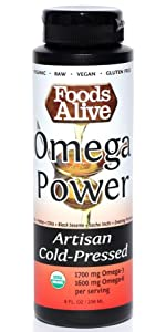 organic artisan cold pressed omega power oil blend, gluten free, kosher, raw, vegan, gluten free