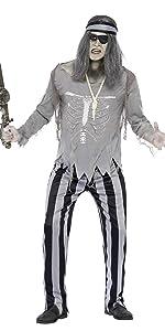 Herren Geister Piraten Schiffskamerad Kostüm