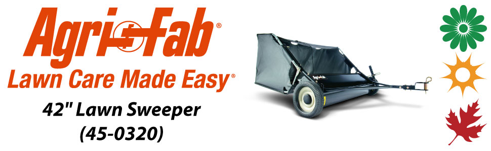 "Agri-Fab, Inc. 42"" Tow Lawn Sweeper Model #45-0320"