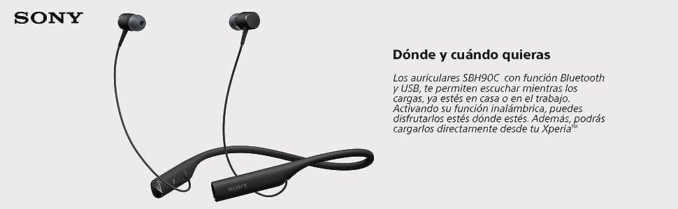 Sony SBH90C Auriculares Bluetooth USB de dos vías