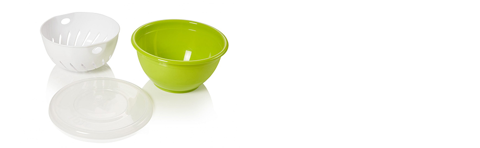 Berry Bowl in Yellow Large Kitchen Colander for Veggies and Fruit with Saucer