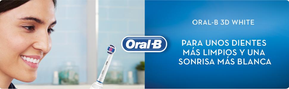 ORAL-B 3D White para unos dientes más limpios y una sonrisa más blanca