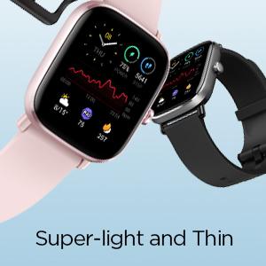 Reloj inteligente súper ligero y fino.