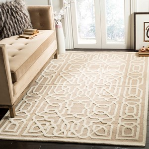 99x132 Modern Woven Living Room Rug Cambridge Size 300x400 cm Soft Pile in Beige