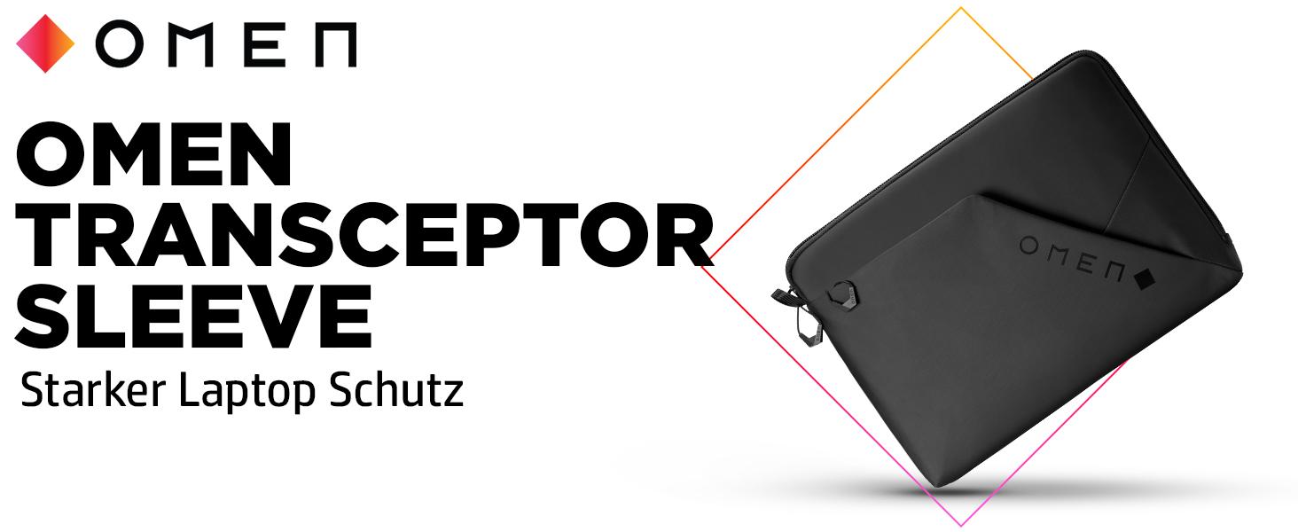 Omen Transceptor 17 Sleeve Laptophülle Schwarz Computer Zubehör