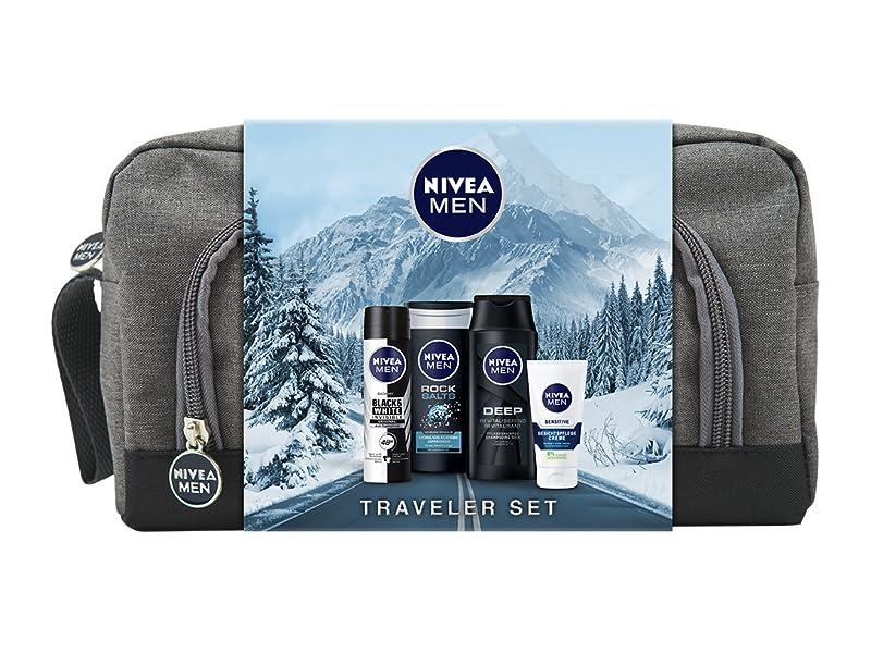 NIVEA MEN Traveler Geschenkset, Kulturtasche für Männer mit Anti ...