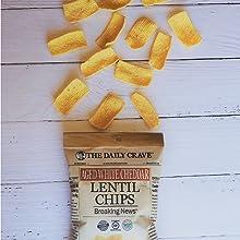 Aged White Cheddar Lentil Chips