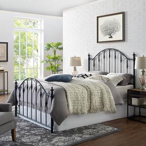 Phenomenal Amazon Com Crosley Furniture Eldridge Metal Headboard And Machost Co Dining Chair Design Ideas Machostcouk