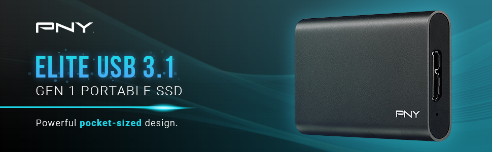 PNY Elite USB 3.0 Portable Solid State Drive (SSD)