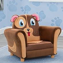 kids chair dog puppy seat toddler boys girls playroom play room furniture delta children animal