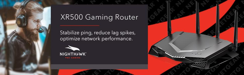 Nighthawk Pro Gaming, XR500, gaming router