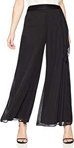 Women's Dress Pants with Black Mesh Tie