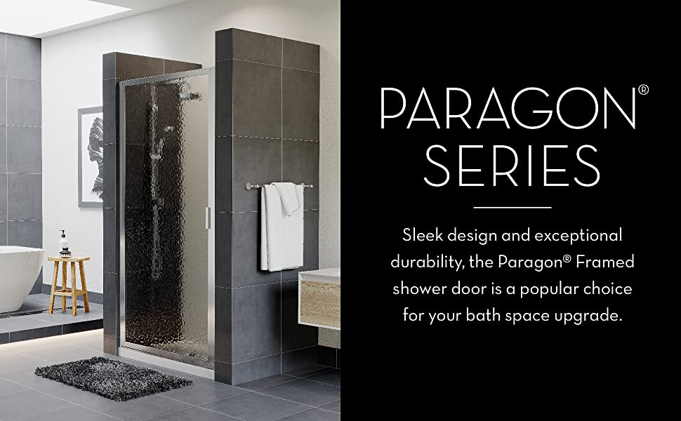 Sleek design and exceptional durability, the Paragon Framed shower door is a popular choice!