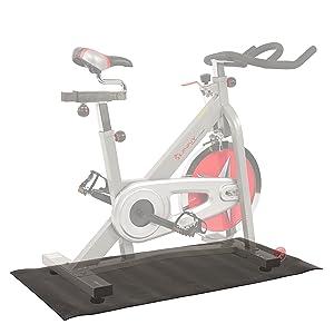 Exercise bike floor protector