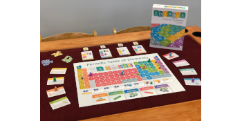 game; board game; science; periodic; how to play; contents; game board