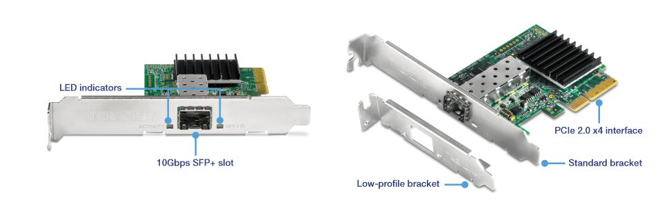 10 Gigabit PCIe SFP+ Network Adapter