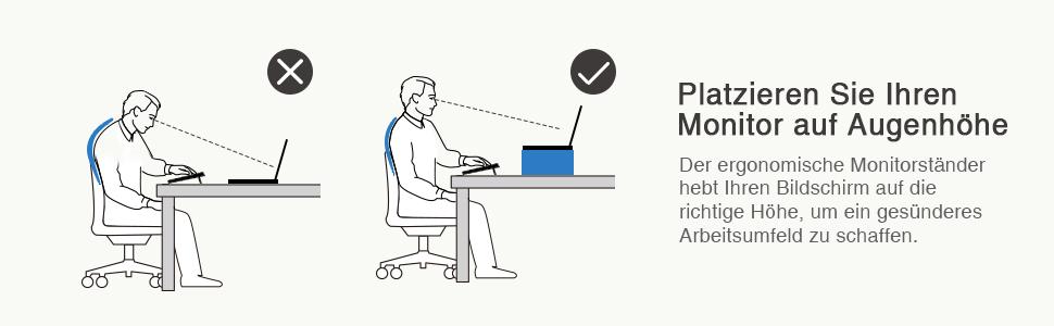 Amazonde Songmics Monitorständer Aus Aluminium Ergonomischer